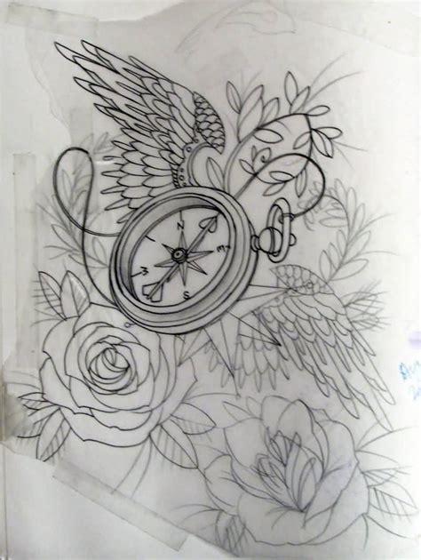 compass tattoo outline 30 latest compass tattoo designs