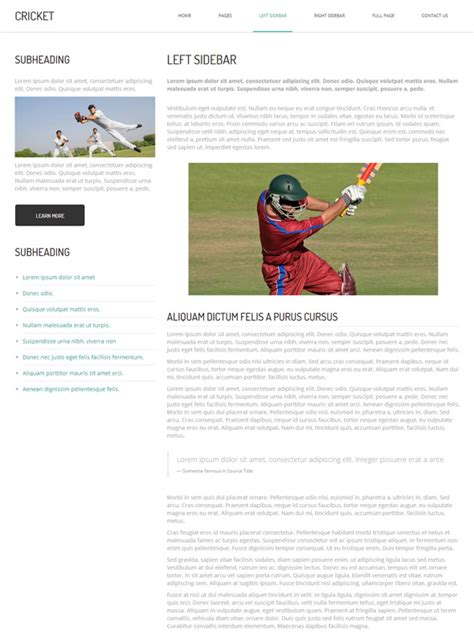 Cricket Html Template Cricket Website Templates Dreamtemplate Cricket Website Templates Free