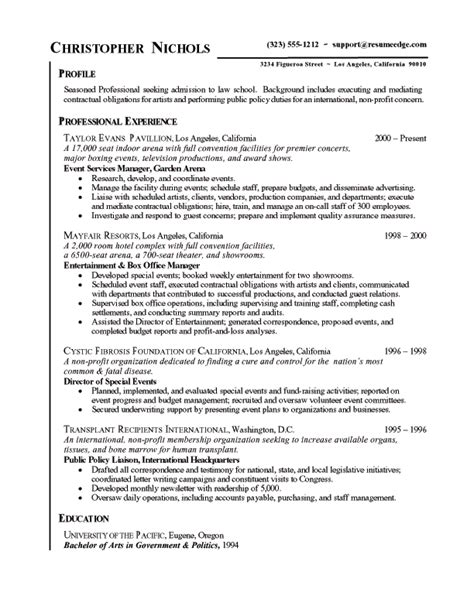 Resume Sle After School Program 5 Chronological Resume Sle Resume 24 Sle General Entry Level 28 Images Find A Resume U2013