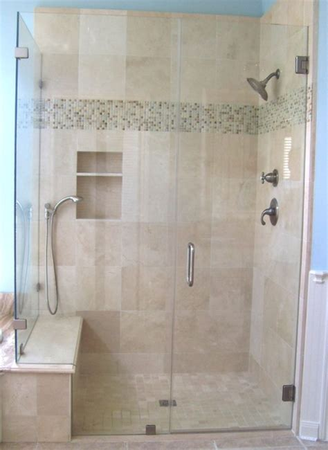 bath shower door frameless shower enclosure traditional bathroom