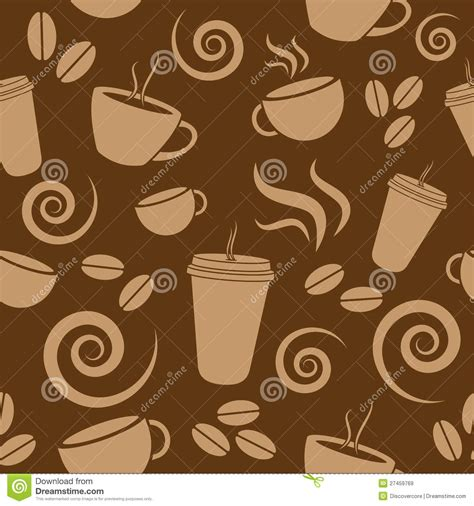 coffee shop background pattern royalty free vector image dark brown coffee pattern stock vector illustration of