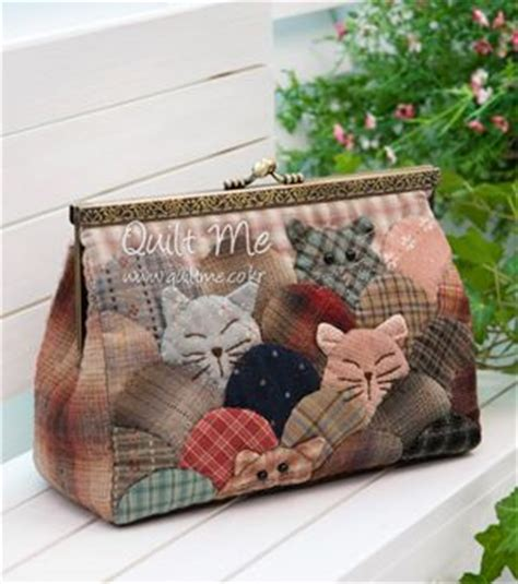 Patchwork Cats - japanese patchwork bag with cats
