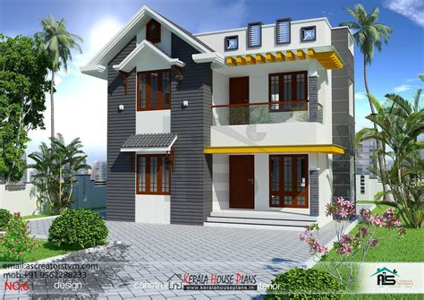 double floor modern style home design 2015 3 bedroom house plans in kerala double floor kerala