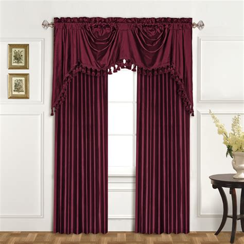 curtains company united curtain co dupioni silk rod pocket swag 108