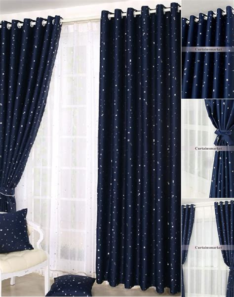 dark colored curtains kids beautiful dark blue curtains with patterns of stars