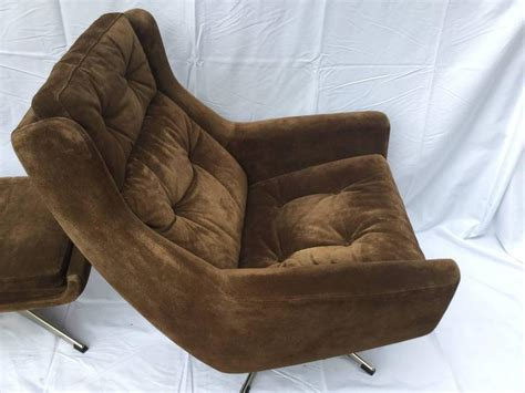brown suede ottoman danish brown suede lounge chair and ottoman for sale at