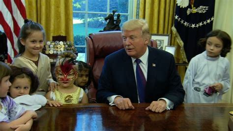 trump hosts white house reporters kids for oval office trump cracks media jokes to reporters kids during