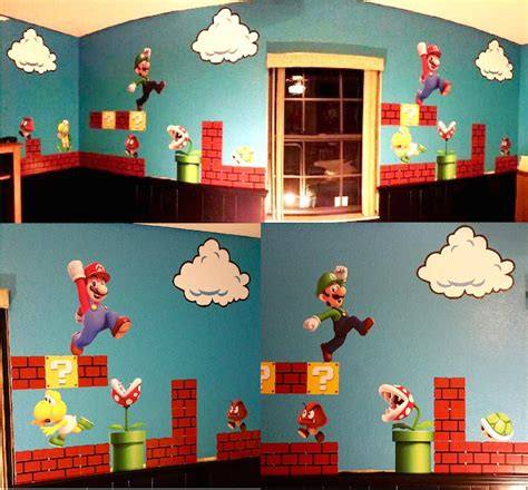 mario bros stickers wall mario bros wall stickers home design