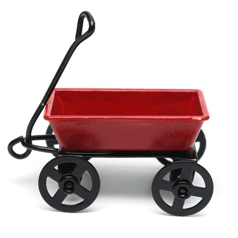 Small Garden Cart by Dollhouse Metal Miniature Small Pulling Cart Garden Furniture Accessorie Alex Nld