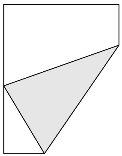 Paper Folding Math Problem - calculus an optimisation problem folding paper