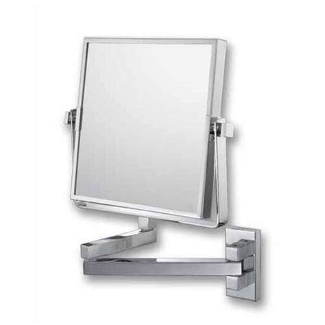 aptations chrome swing arm vanity mirror 50809 www mirror image chrome square double arm wall mirror