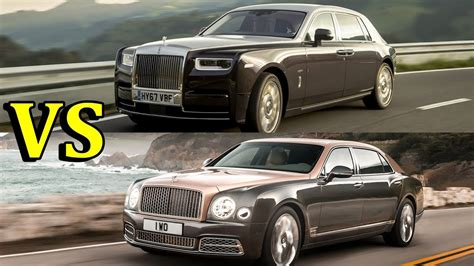 bentley mulsanne vs rolls royce phantom 2018 rolls royce phantom vs 2017 bentley mulsanne