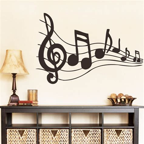 music note home decor music sticker music is my life theme music bedroom decor