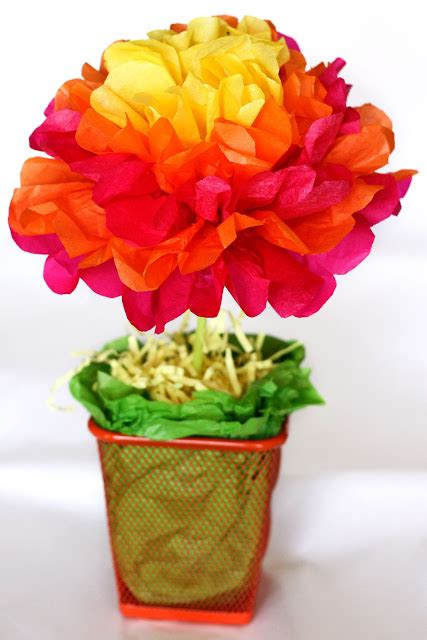 paper flower topiary tutorial one crafty mama easy tissue paper flower centerpieces