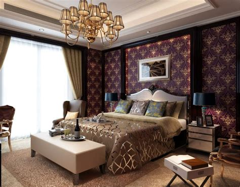 purple and gold room wallpaper non woven caesar the gold continental romantic