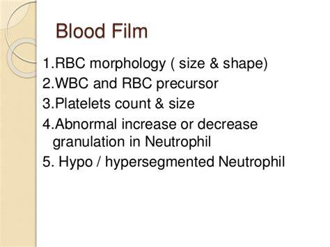 blood film morphology quiz pancytopenia