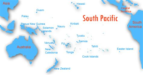 south pacific map southpacific images search
