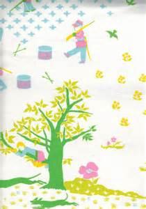 nursery curtain fabric nursery rhymes cotton fabric curtain panel 70s