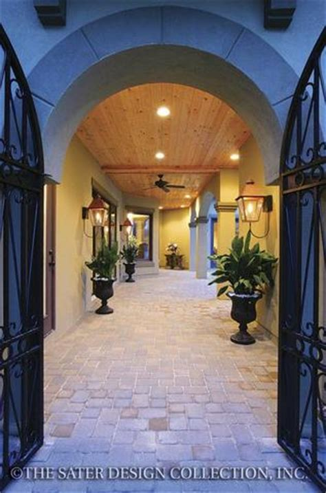 ferretti courtyard home plan sater design collection