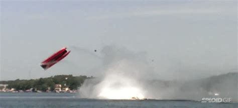 speed boat gif crash everybody survived this crazy crash that flipped a