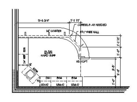 Home Bar Plans Design Blueprints Drawings Back Bar Counter House Plans With Bar