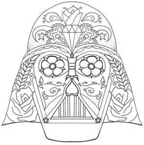 skull face coloring page darth vader sugar skull fun pinterest darth vader