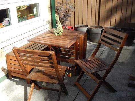 ikea applaro storage bench ikea applaro patio table 2 chairs and storage bench victoria city victoria