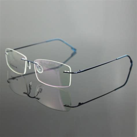 aliexpress buy new lightest s rimless stainless steel eyeglasses glasses rxable