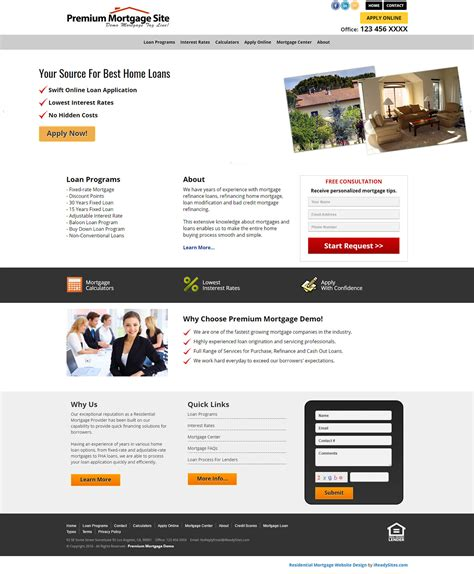 Residential Mortgage Website Templates Mortgage Website Templates