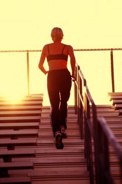 muscles   walking  stairs woman