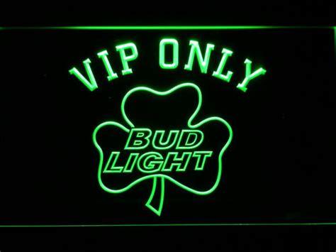 bud light shamrock neon sign bud light shamrock vip only led neon sign safespecial