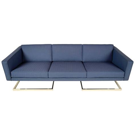 floating sofa mid century modern floating chrome sofa in the manner of