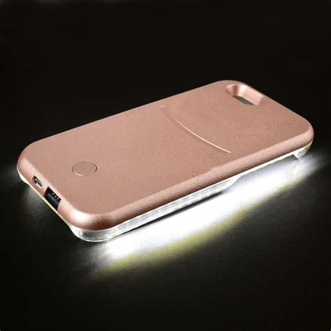 lights with iphone style led white light up selfie phone cover for