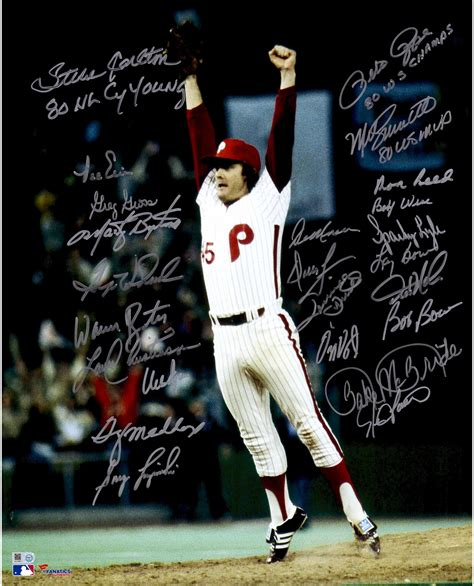 sport star autographs autographs from the worlds most philadelphia phillies 1980 world series chions team