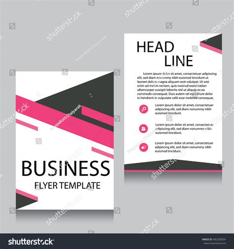 flyer template pages vector brochure flyer design layout template stock vector