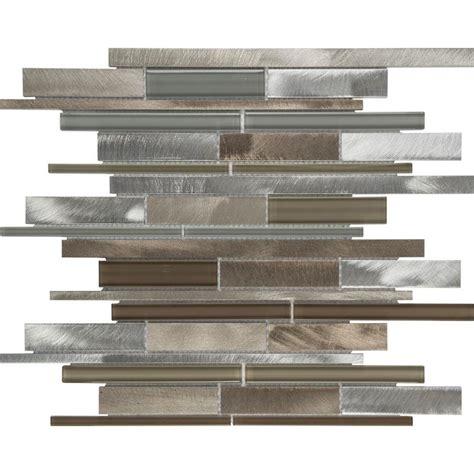 anatolia tile java linear mosaic and glass wall tile shop anatolia tile aluminum beige linear mosaic glass and