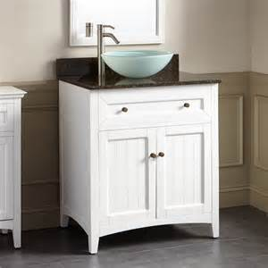 Vanity For Vessel Sinks by 30 Quot Halifax Vessel Sink Vanity White Bathroom