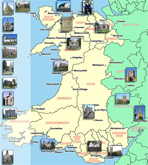 map of wales map of wales churches
