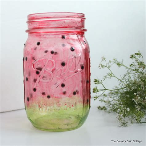 jar crafts painted watermelon jar craft plus more live crafts