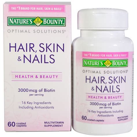 nature s bounty hair skin nails 60 coated caplets