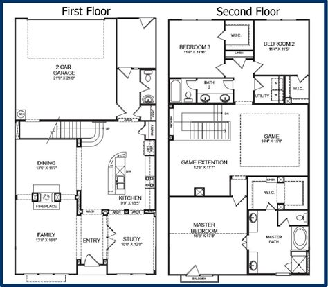 2 Story Home Floor Plans The Parkway Luxury Condominiums
