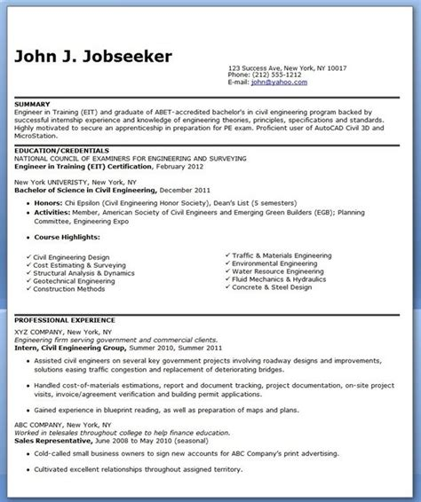 civil engineer resume sample entry level creative resume design templates word engineering