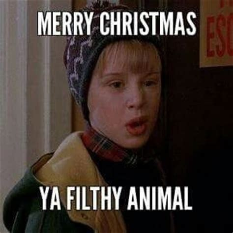 Filthy Friday Memes - merry christmas ya filthy animal pictures photos and