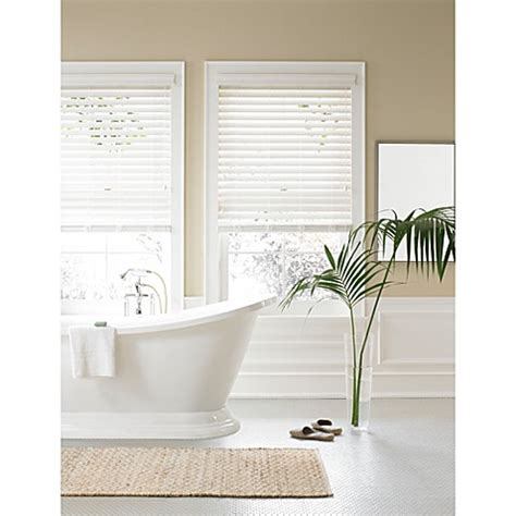 real simple bathroom real simple 174 faux wood window blind bed bath beyond
