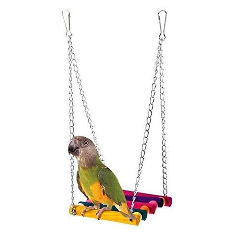birdcage swing monkeybrother pet bird parrot budgie cockatiel parakeet