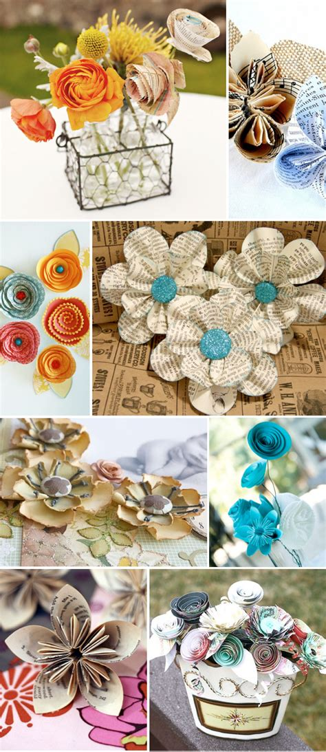 Flower Tutorials Paper - vintage paper flower ideas weddings by lilly