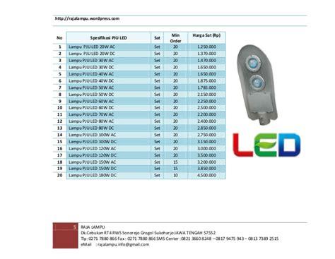 Daftar Lu Jalan Led Philips daftar harga katalog tiang lu galvanis update januari
