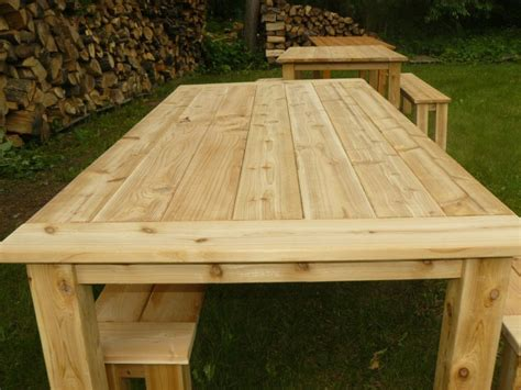 Outdoor Cedar Tables Cedar Patio Table