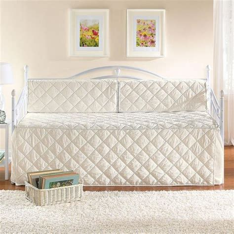 white eyelet daybed set white metal daybed with trundle