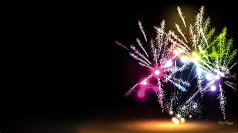 Beautiful by Photo Collection Fireworks Wallpaper Black